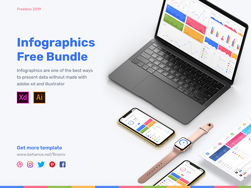 Adobe Xd Infographics Bundle | Free Xd Templates