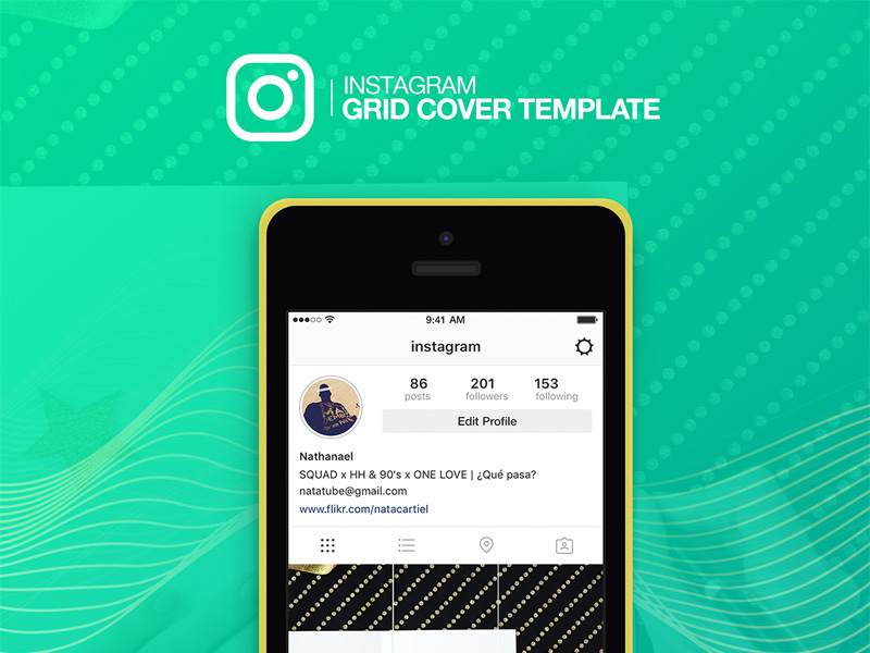 Instagram Grid Cover Template | Free PSD Template | PSD Repo