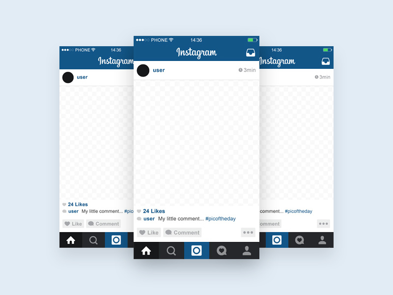 instagram layout psd instagram template - mobile mockup | free psd template | psd
