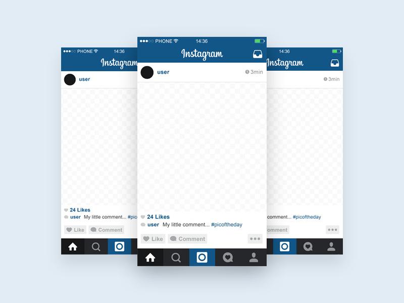Instagram Template Mobile Mockup