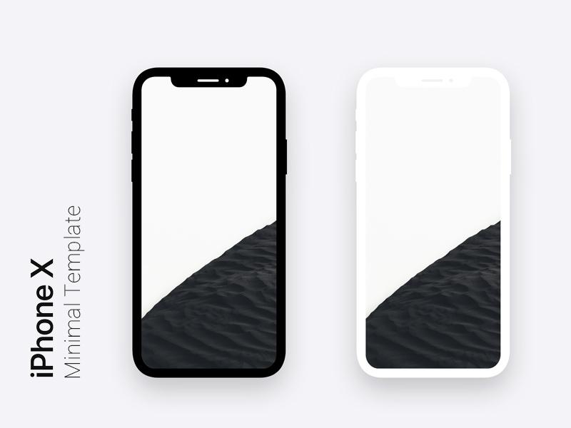 Iphone X Minimal Dark Light Template For Photo