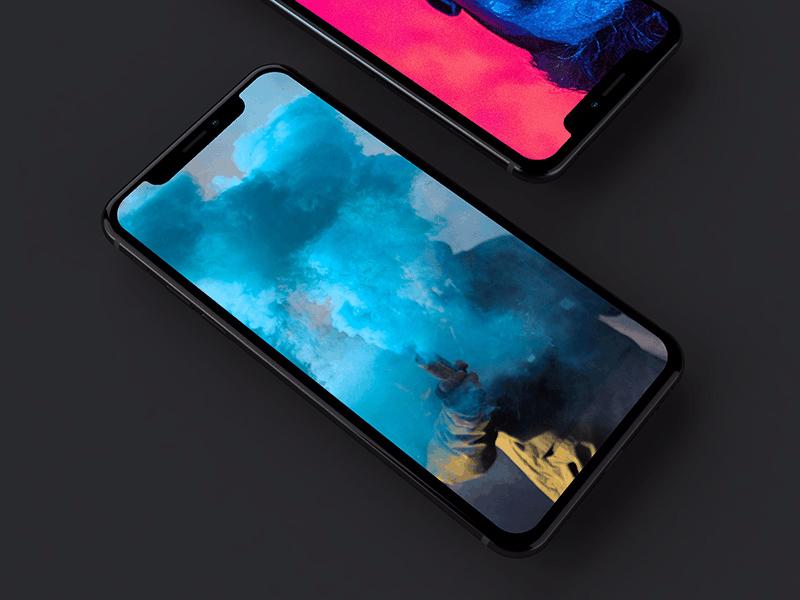 Dark Iphone X Mockup Free Psd Template Psd Repo