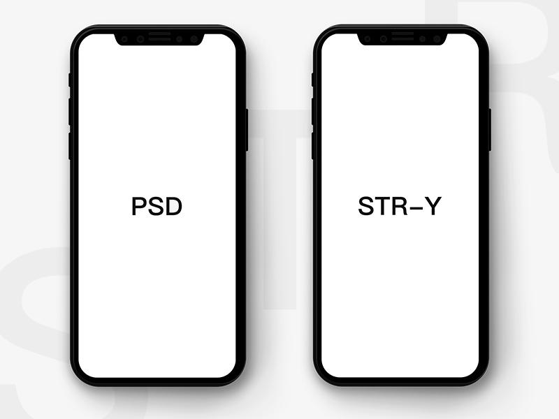 Flat Iphone X Psd Template