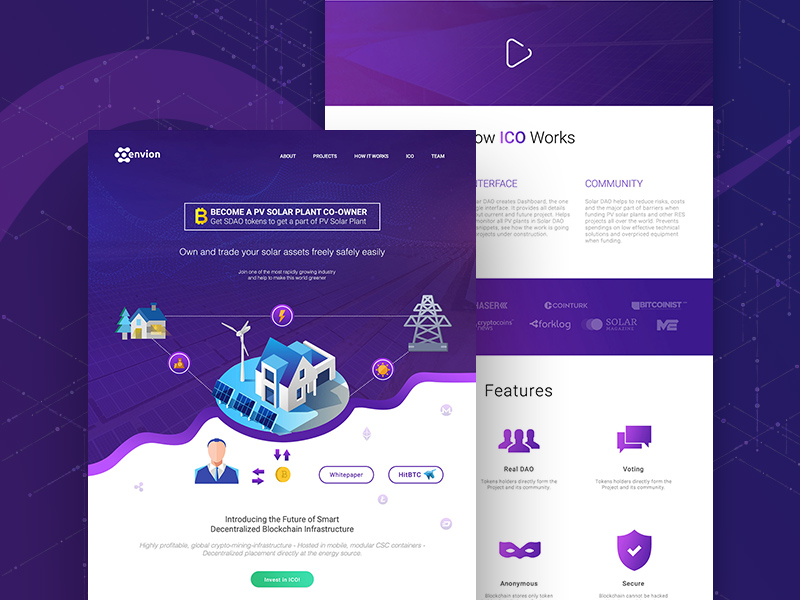 Isometric Crypto Website Template UI | Free PSD Template | PSD Repo