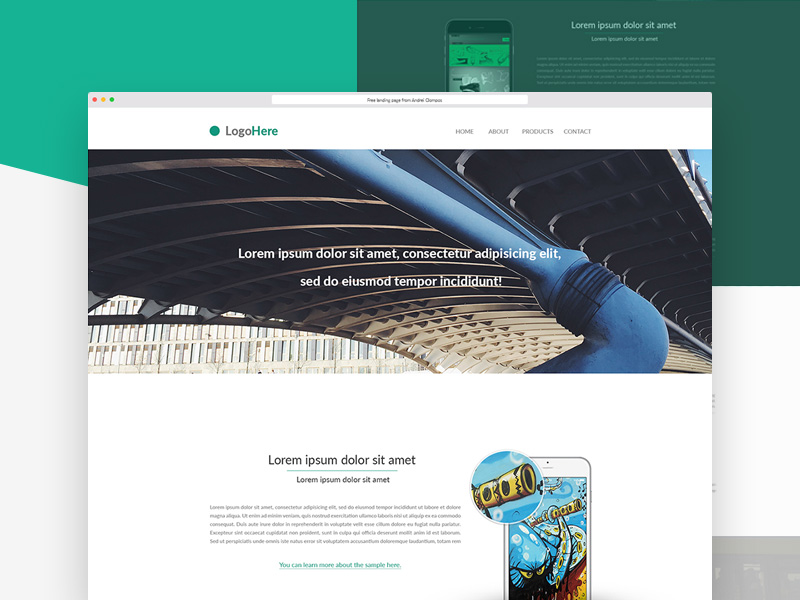 Product Landing Page Template Free Psd Template Psd Repo