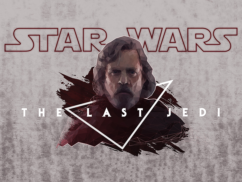 Low Poly Star Wars The Last Jedi Poster Wallpaper Free Psd Template Psd Repo