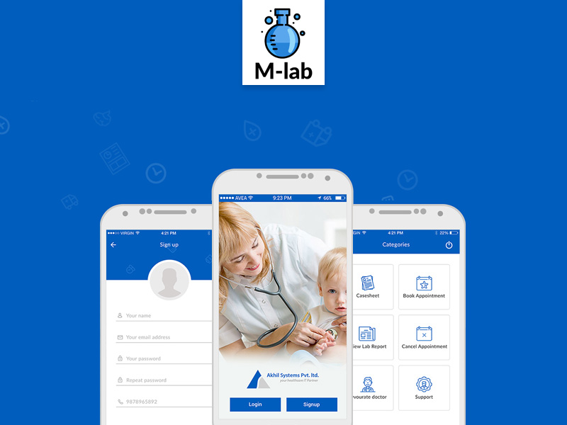 M Lab Medical Mobile App Design Free Psd Template Psd Repo