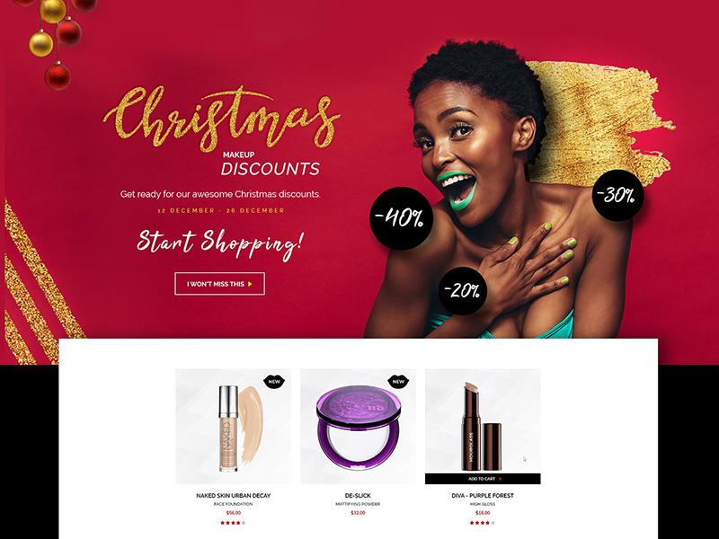 Makeup Website Template Free Psd