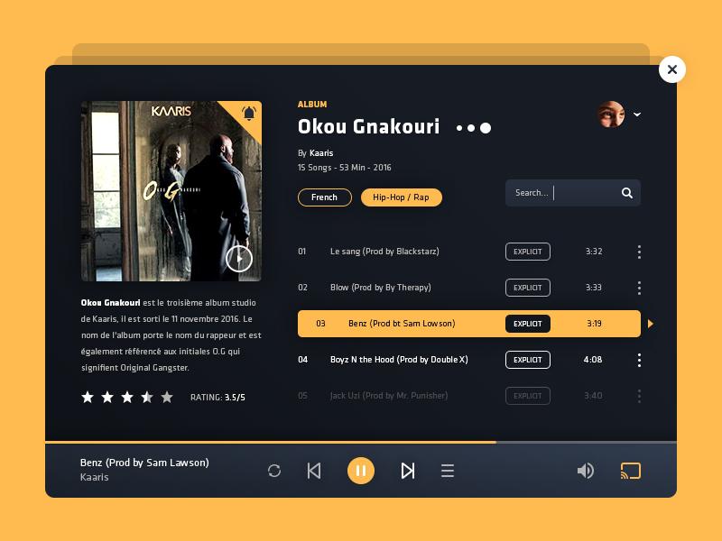 Music Player Web Ui Design