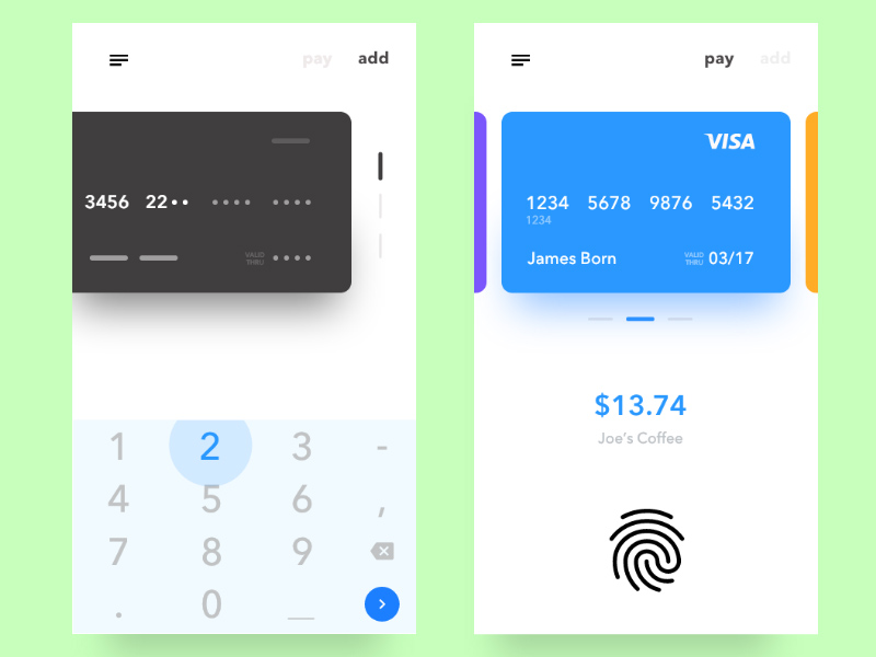 Adobe XD Payment Checkout UI | Free Xd Templates