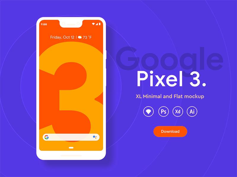 Pixel 3 XL Mockups | Xd Resource | Free Xd Templates