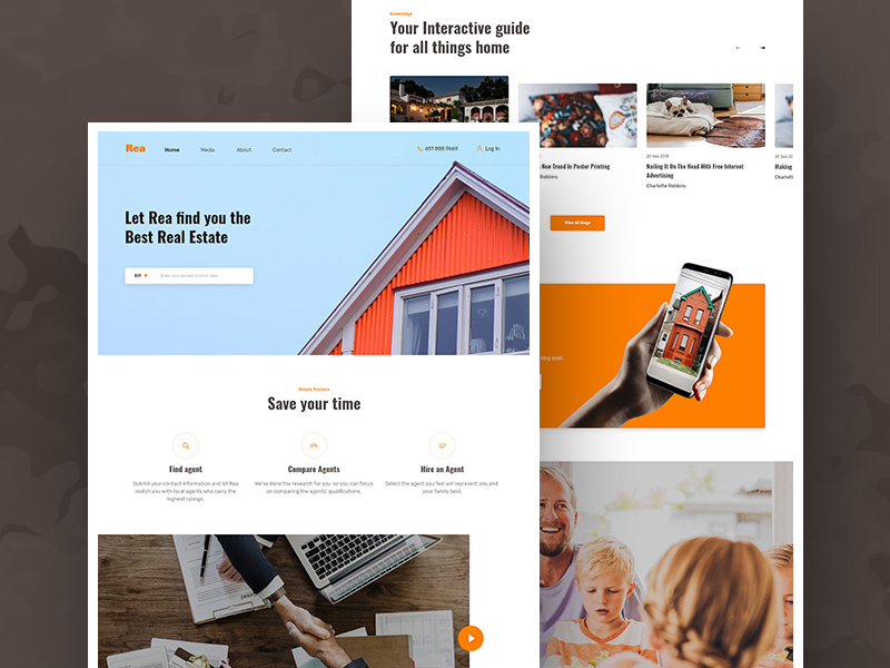 Real Estate Agent Website Components Adobe Xd Ui Kit Free Xd Templates