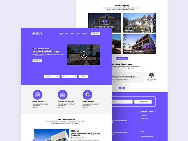 Real Estate PSD Website Template   Free PSD Template   PSD Repo