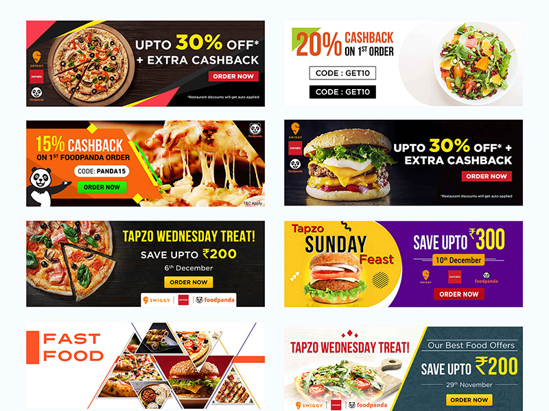 Facebook Banner Templates Social Media Food Banners