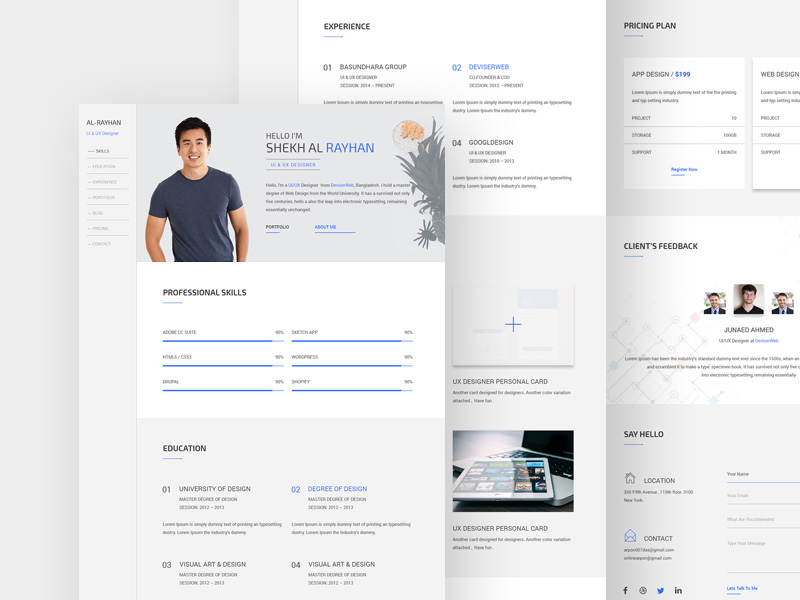 Swift Personal Cv Resume Template Free Psd Template Psd Repo