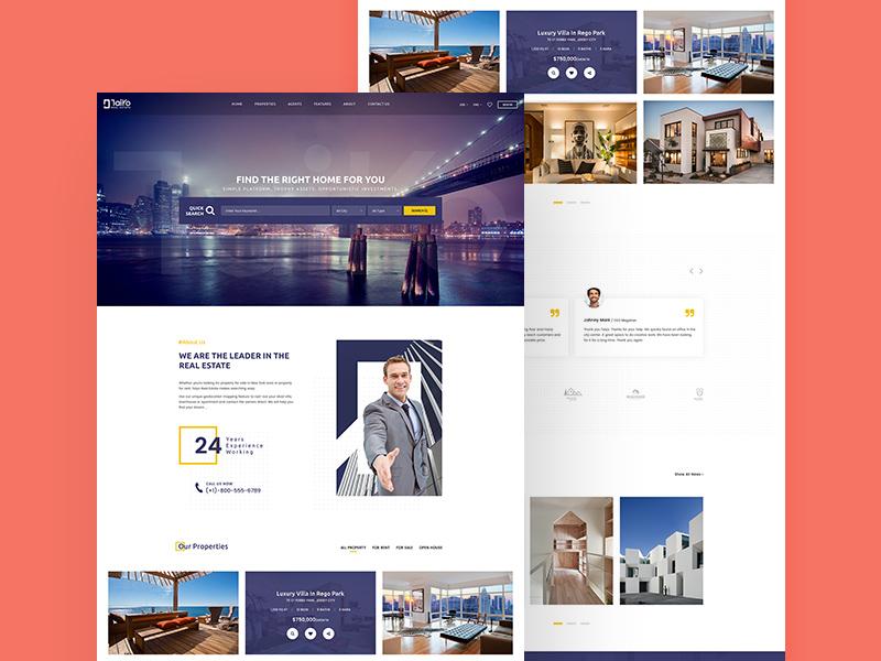 Taiyo Real Estate Website Template