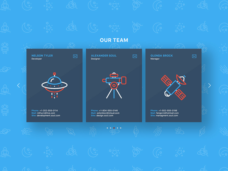 Team Page Section   Free PSD Template   PSD Repo
