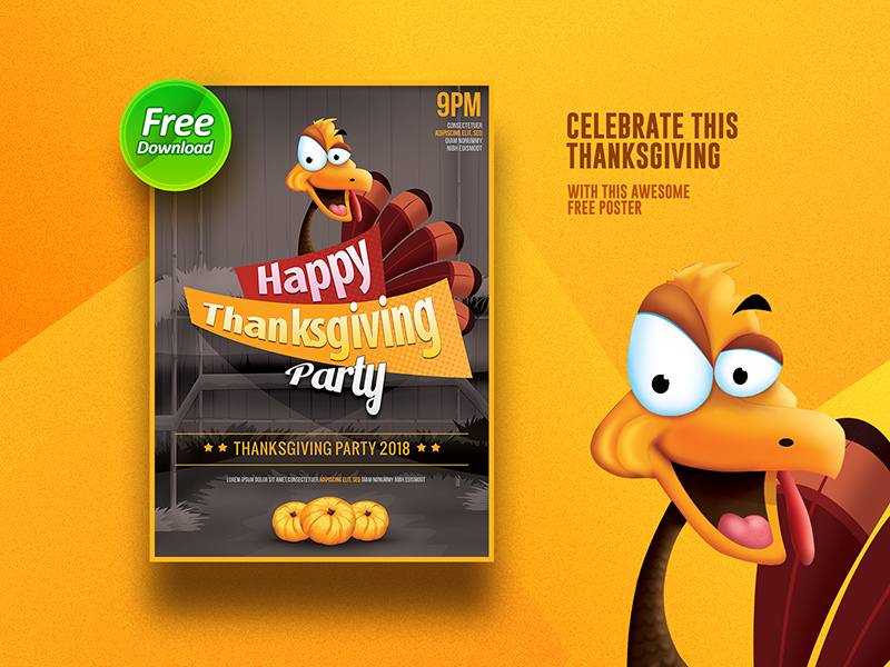 Thanksgiving Flyer Template Free Psd Template Psd Repo