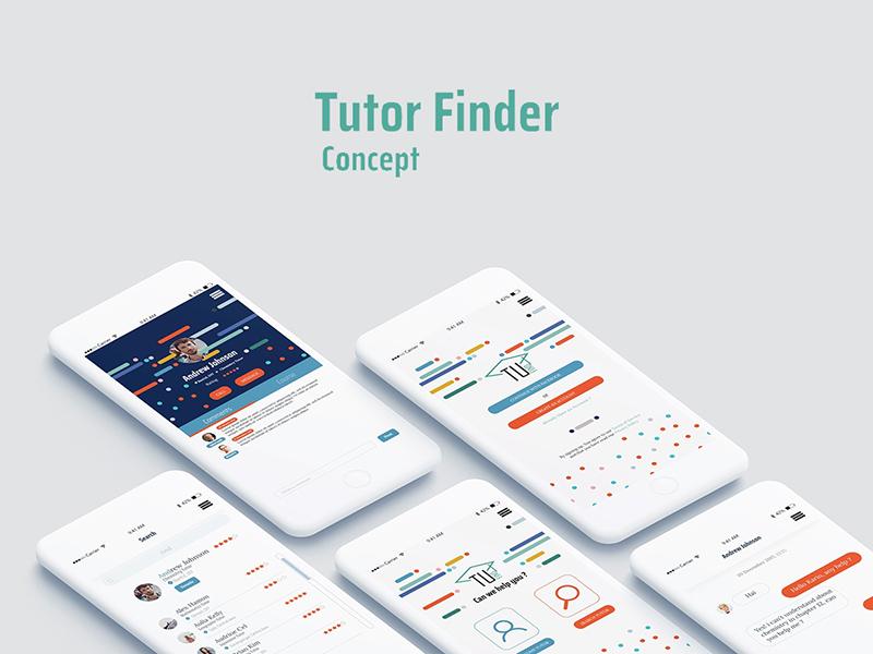 Tutor Finder App Design | Free PSD Template | PSD Repo