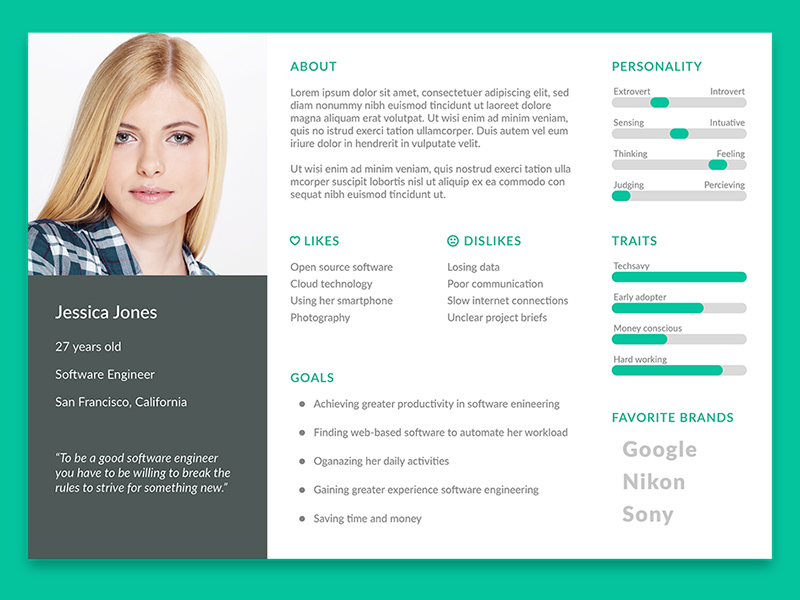customer persona template user persona template free psd template psd repo 21281 | user persona template psd download x4