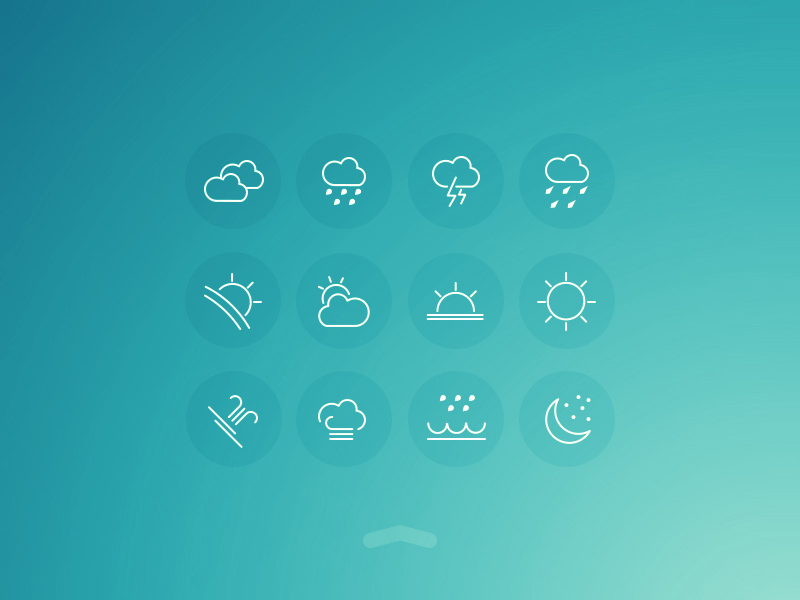 Free Weather UI Icons | Free PSD Template | PSD Repo