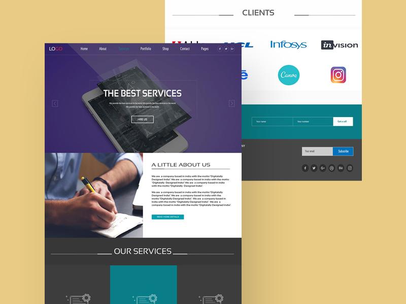 Web Services Website Design UI Template | Free PSD Template | PSD Repo
