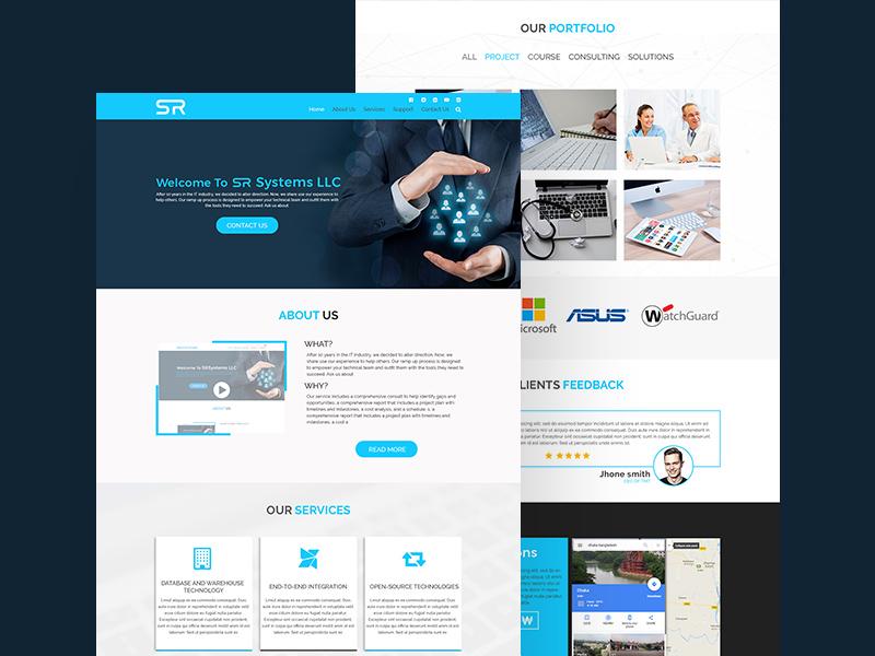 Business Website Template Free Psd Template Psd Repo